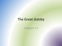 The Great Gatsby - Ms. Bibbs' English Classes